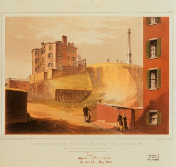 5th August 1858: Beacon Hill, Boston, the site of the oldest surviving Black Church and a centre of the abolitionist movement. (Photo by MPI/Getty Images)