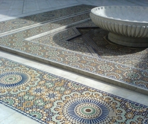 Courtyard in the Grande Mosquee de Paris (Credit: Rob Annable)